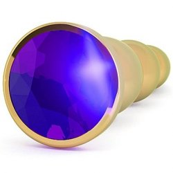 "Rich: R3 4.8"" Butt Plug With Sparkling Sapphire - Gold 2 Product Image"