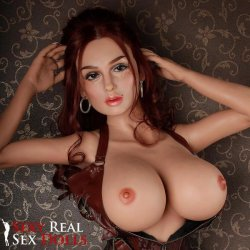 SRSD - 4ft 11' Lifelike Implanted Red Hair Silicone Love Doll Product Image