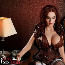 SRSD - 4ft 11' Lifelike Implanted Red Hair Silicone Love Doll 11 Product Image