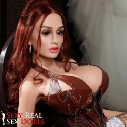 SRSD - 4ft 11' Lifelike Implanted Red Hair Silicone Love Doll 16 Product Image