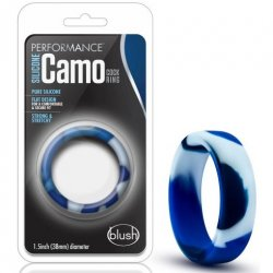 Performance Silicone Camo Cock Ring - Blue Camouflage Product Image