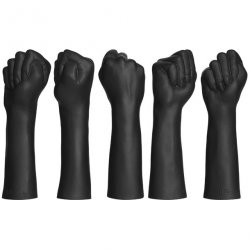 Kink - Dual Density SECONDSKYN Fist Fuckers Closed Fist - Black 2 Product Image