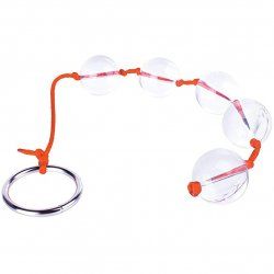 The 9's: Orange Is The New Black Bead-It! 5X Glass Anal Beads Product Image