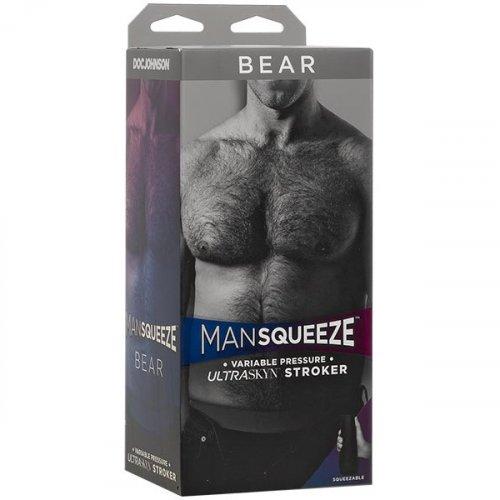 Man Squeeze Bear Ass UltraSkyn Stroker - Vanilla 13 Product Image