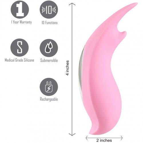 Maia: Sera Clitoral Lay-On Vibrator - Pastel Pink 3 Product Image