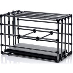 Kennel Adjustable Puppy Cage with Padded Board - Black Product Image