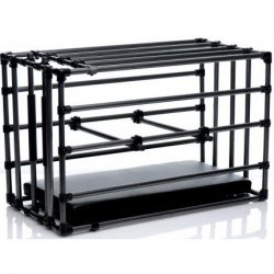Kennel Adjustable Puppy Cage with Padded Board - Black 5 Product Image