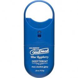 Goodhead Deep Throat To Go Oral Anesthetic Spray - Blue Raspberry - .33 oz. Product Image