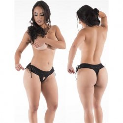 Hot Flowers G-String - Baking Black - One Size Fits All Product Image