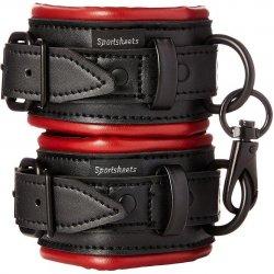 Saffron Cuffs - Red & Black Product Image