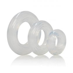 Premium Silicone Ring Set - Clear Product Image