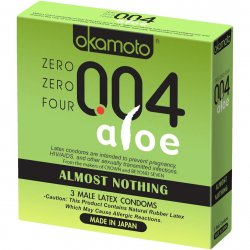 Okamoto 004 Aloe Condoms - 3 Pack Product Image