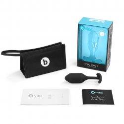 B-Vibe Snug Plug 2 - Black Product Image
