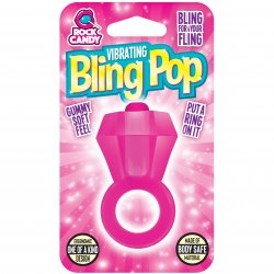 Rock Candy - Bling Pop Vibrating Ring - Pink Product Image