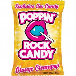 Rock Candy - Poppin' Rock Candy Explosive Oral Sex Candy - Orange Cream Pop Product Image
