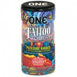 One: Tattoo Touch Condoms - 12pk Product Image