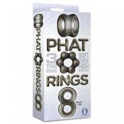 Phat Rings Chunky Cock Rings - Smoke 2 Product Image