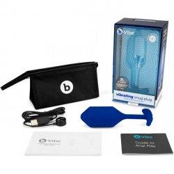 B Vibe Vibrating Snug Plug - Xlarge - Navy Product Image