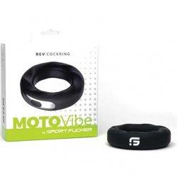 Sport Fucker Motovibe Rev 52 mm Cockring - Black Product Image