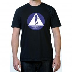 James Deen: No Panties Allowed T-Shirt - Black - Medium Product Image