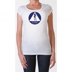 James Deen: No Panties Allowed Scoop Neck - White - Small Product Image