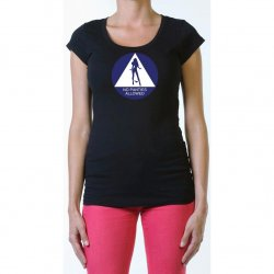 James Deen: No Panties Allowed Scoop Neck  - Black - Large Product Image