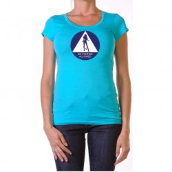 James Deen: No Panties Allowed Scoop Neck - Blue - Small Product Image