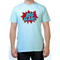 James Deen: Ass Slam T-Shirt - Blue - Medium Product Image