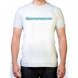 James Deen: #Pornoromance T-Shirt - White w/ Blue - Large Product Image