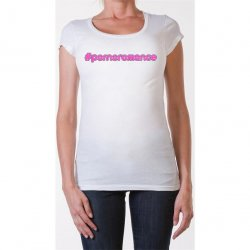James Deen: #Pornoromance Scoop Neck - White - Small Product Image
