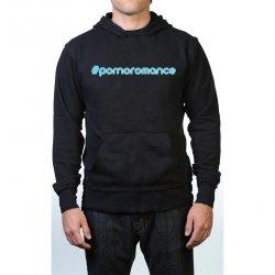 James Deen: #Pornoromance Hoodie - Black w/ Blue - Large Product Image