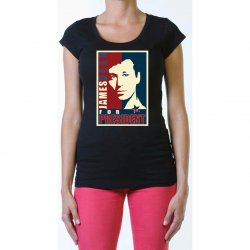 James Deen: JD4Pres Scoop Neck - Black - Small Product Image