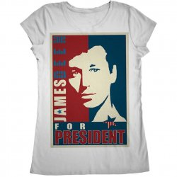 James Deen: JD4Pres Scoop Neck - White - Small Product Image