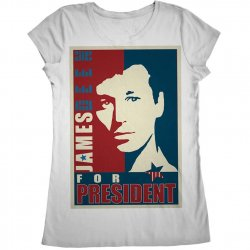 James Deen: JD4Pres Scoop Neck - White - XLarge Product Image