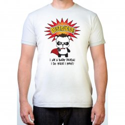 James Deen: Destructo Panda T-Shirt - White - Small Product Image