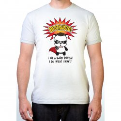 James Deen: Destructo Panda T-Shirt - White - Large Product Image