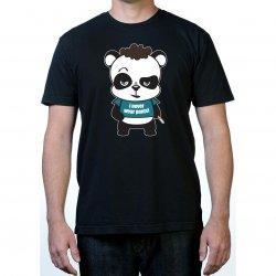 James Deen: No Pants Panda T-Shirt - Black - Small Product Image