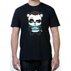 James Deen: No Pants Panda T-Shirt - Black - Medium Product Image