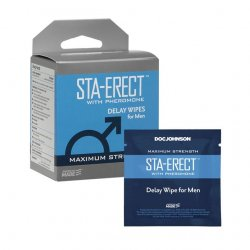 Sta-Erect with Pheromone - Delay Wipes for Men - 10 Pack Product Image