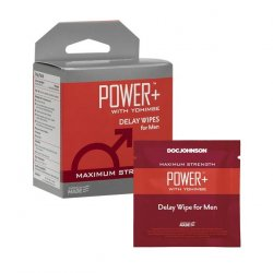 Power+ with Yohimbe - Delay Wipes for Men - 10 Pack Product Image