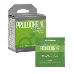 Proloonging with Ginseng - Delay Wipes for Men - 10 Pack Product Image