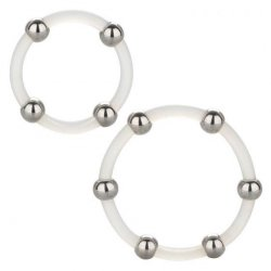 Steel Beaded Silicone Ring Set Product Image