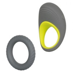 Link Up: Edge Vibrating Cock Ring - Slate and Green Product Image