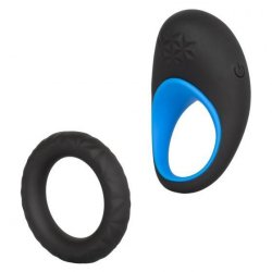 Link Up: Max Vibrating Cock Ring - Black and Blue Product Image