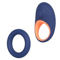 Link Up: Verge Thumping Cock Ring - Navy Blue and Orange Product Image