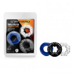 Stay Hard: Triple Stretch Cock Rings - 3 Pack Product Image