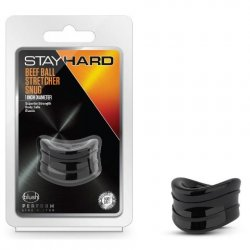 Stay Hard: Beef Ball Stretcher Snug - 1 Inch Diameter - Black Product Image
