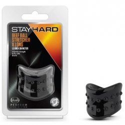 Stay Hard: Beef Ball Stretcher X Long - 1.5 Inch Diameter - Black Product Image