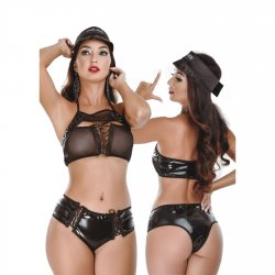 Hot Flowers Costumes - Sexy Cop - One Size Fits All Product Image