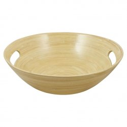 "Nuru Gel Wooden Mixing Bowl - 10"" Product Image"